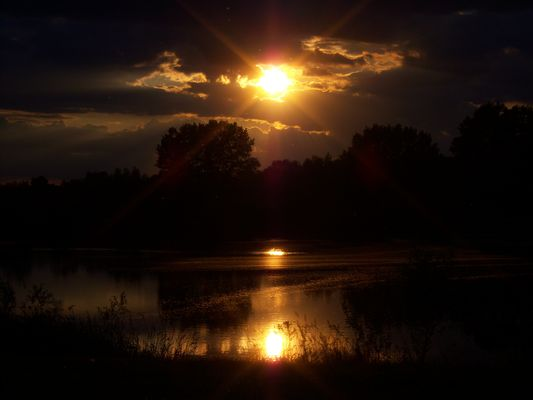 Sonne Kieskuhle Ditfurt