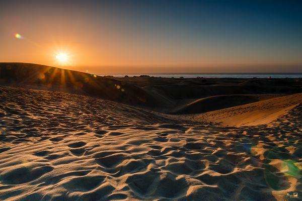 Sonne küsst Düne - Kanaren701