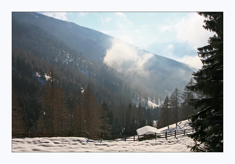 Sonne, Nebel, Schnee