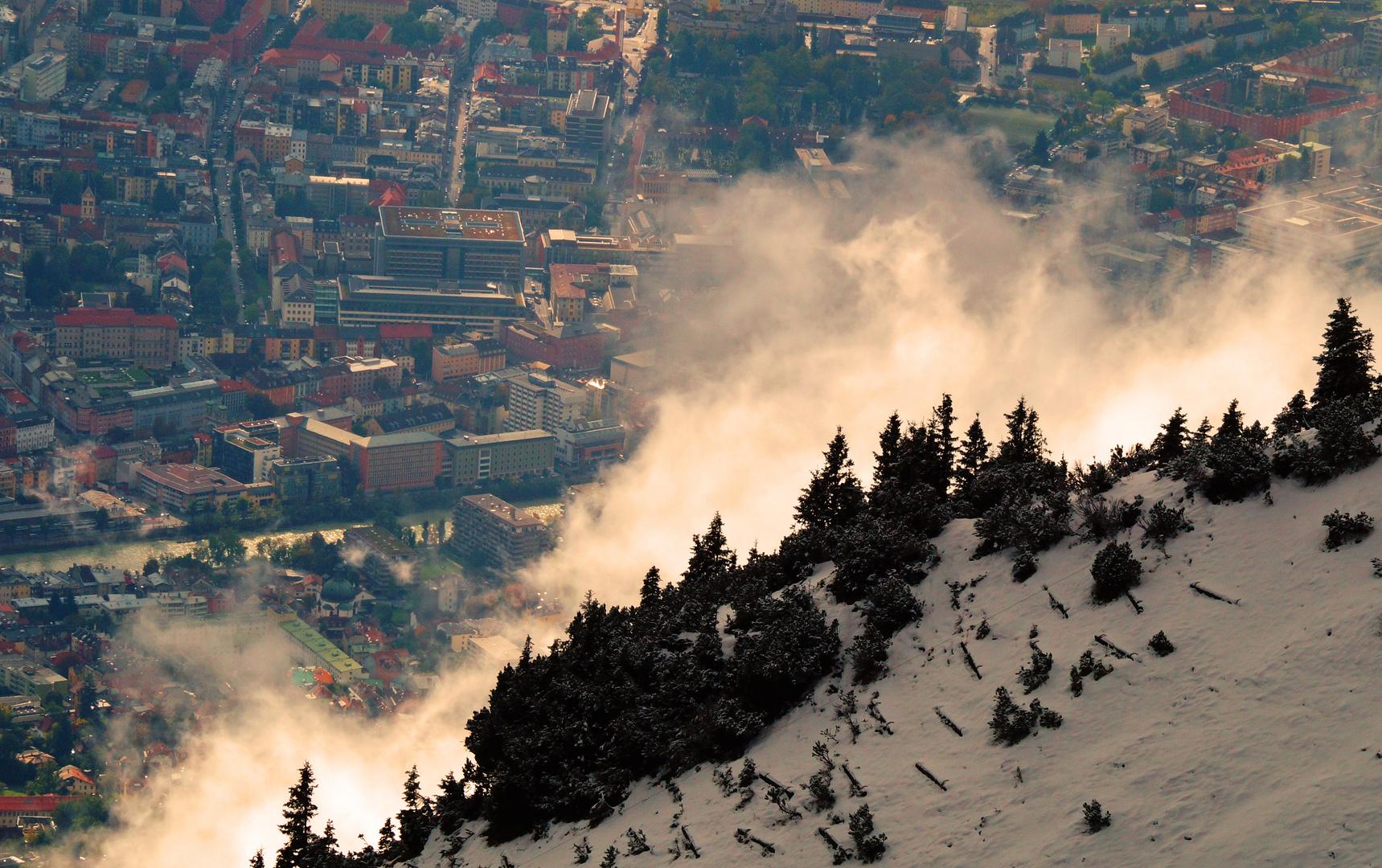 Sonne, Nebel, Schnee...typisch Tirol