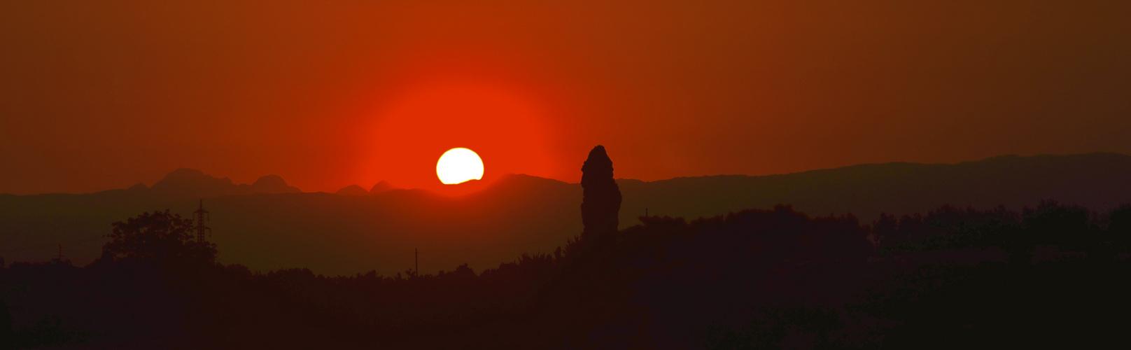 Sonne über Florenz