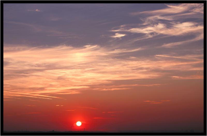 Sonne über Gelsenkirchen