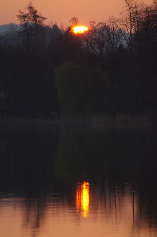 Sonne über und im Staffelsee V