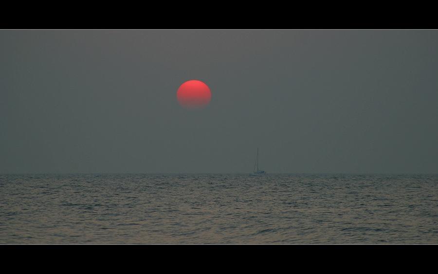 Sonne und Boot