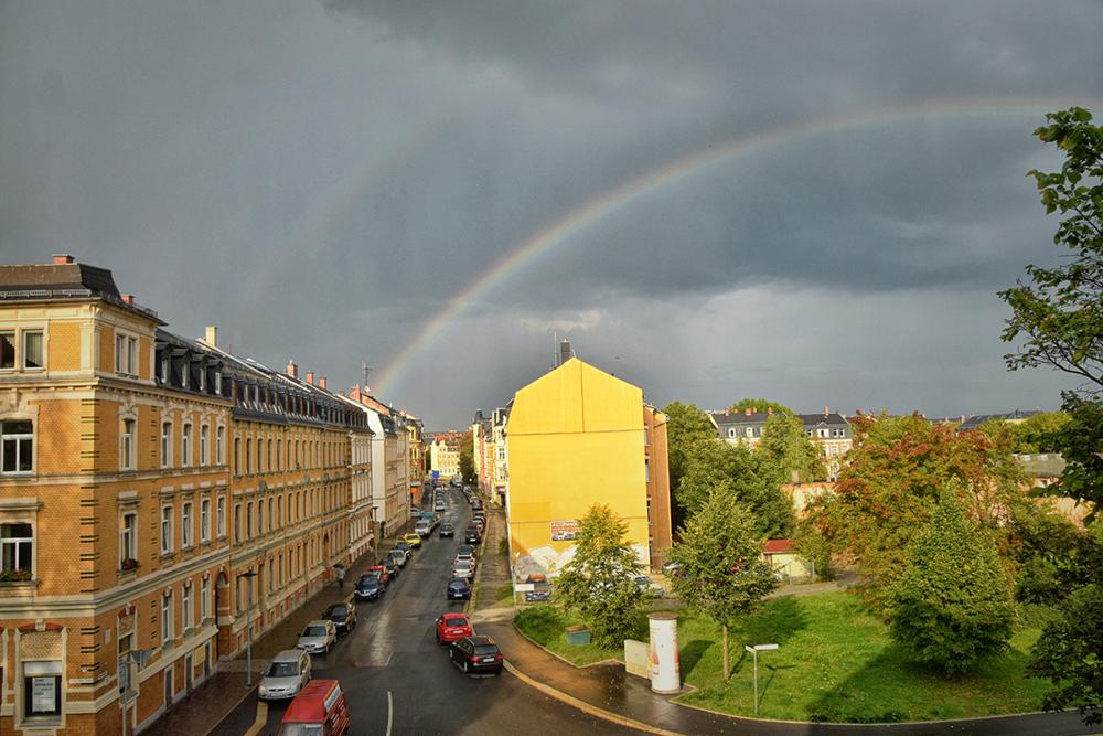 Sonne und Regen
