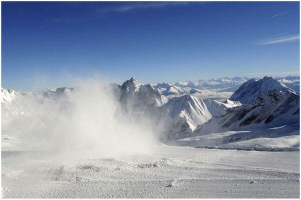 Sonne und Schnee auf der Zugspitze