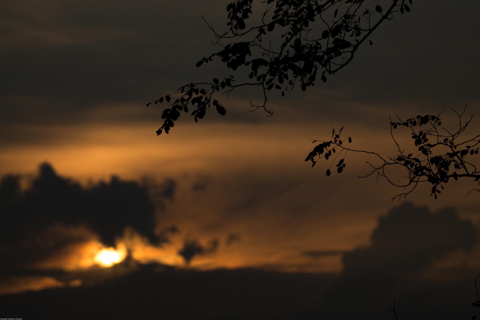 Sonne unter in Sachsen