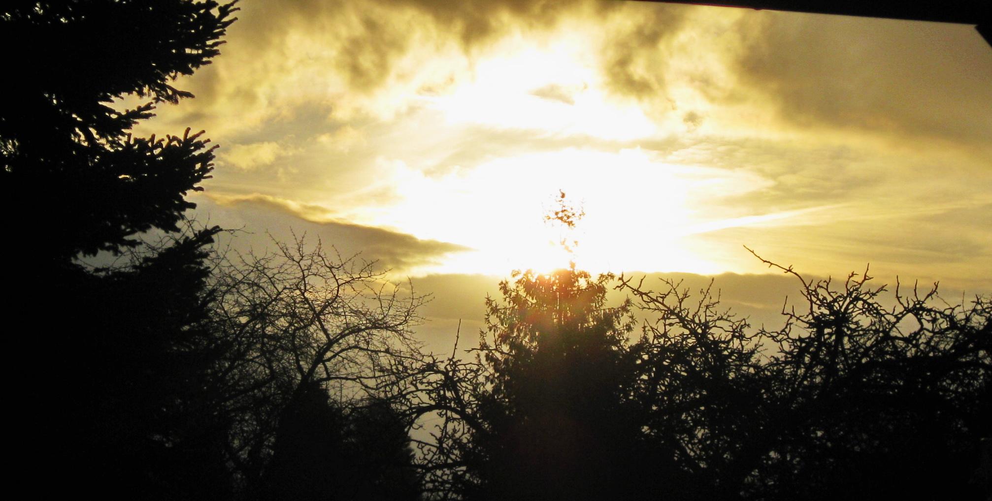 Sonne verdrängt die Schatten
