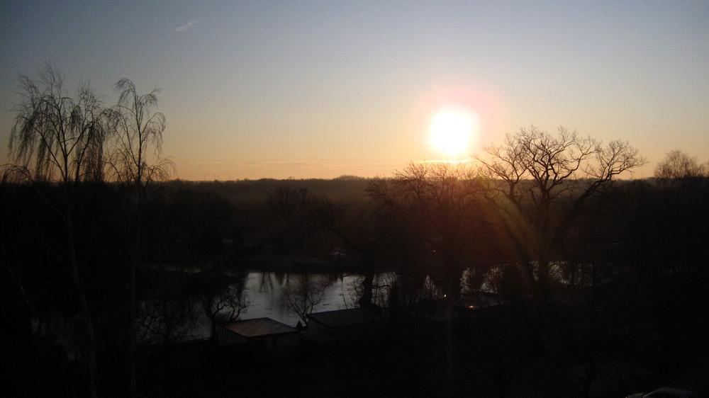 Sonne von der Schule aus!!! Nich Gut?!