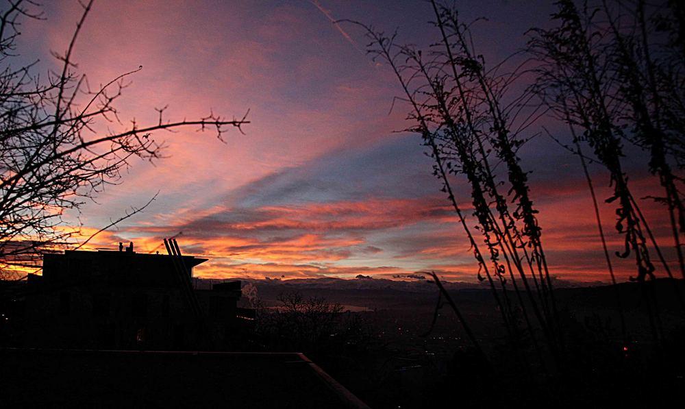 Sonneaufgang über dem Hönggerberg