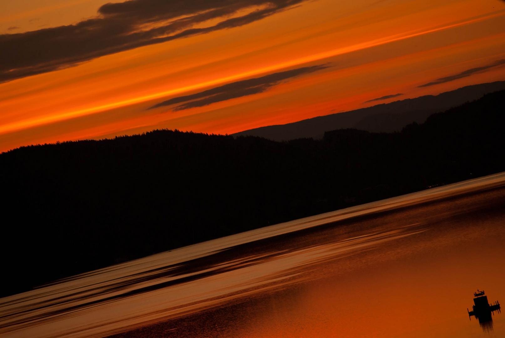 Sonnen aufgang über dem Wörthersee