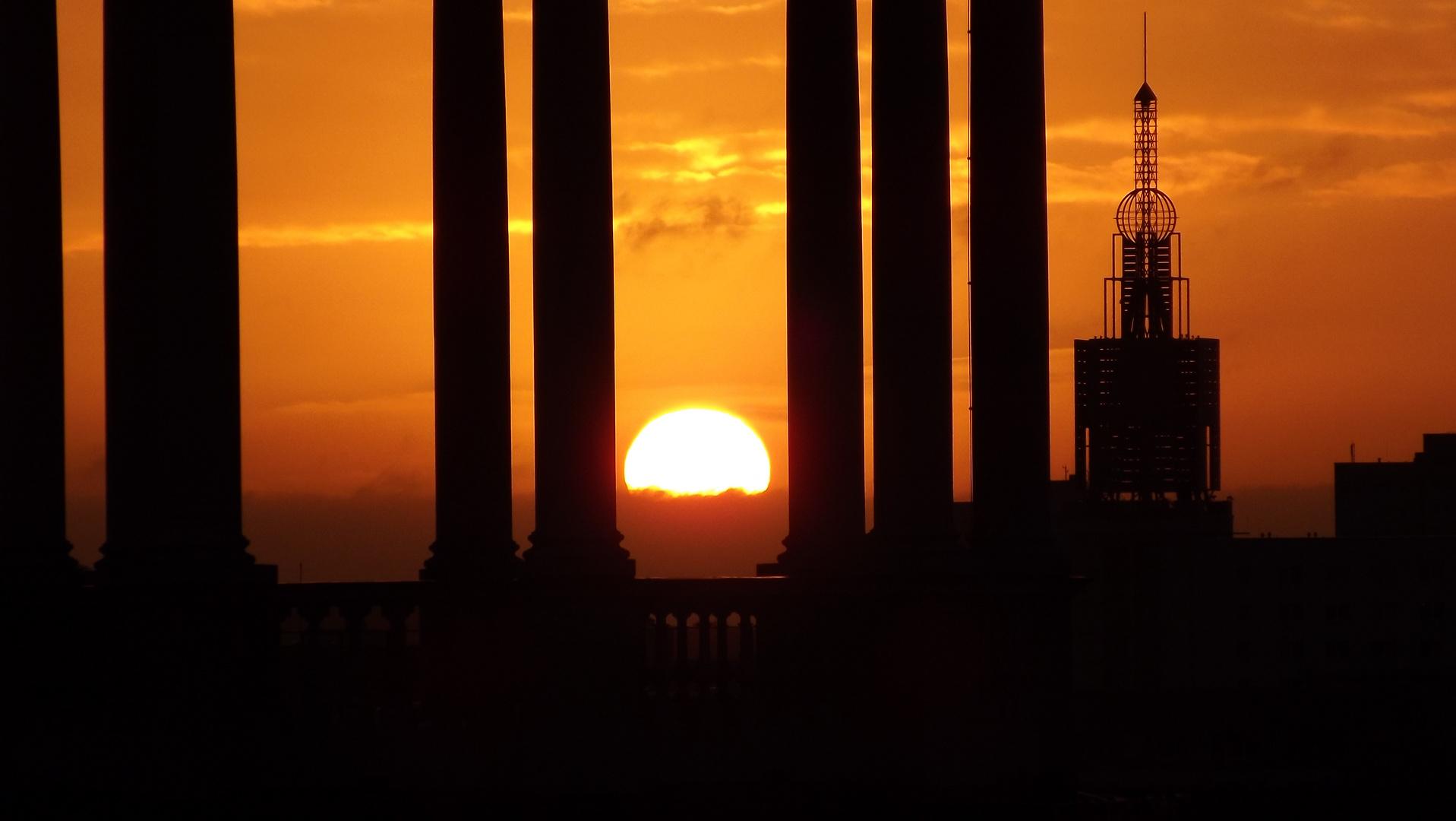 Sonnen Aufgang über Potsdam