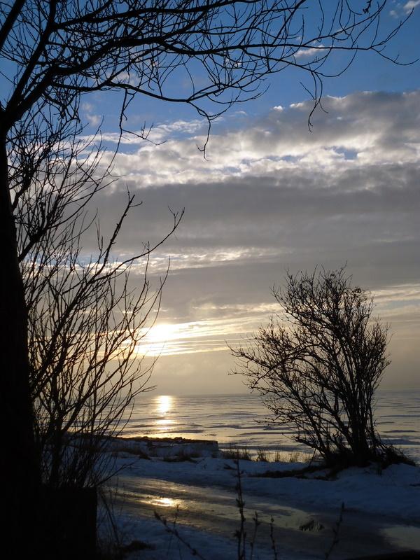 Sonnen Untergang in Ostsee - Ocaaso en el Mar del Este