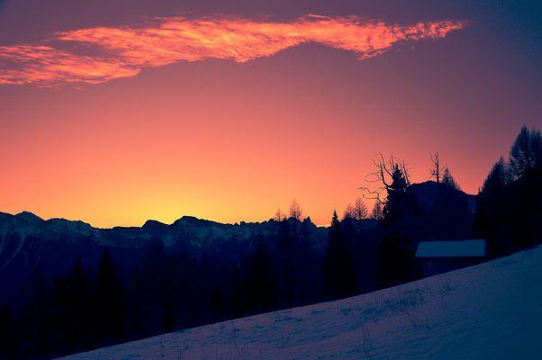 Sonnenaufgan in den Dolomiten