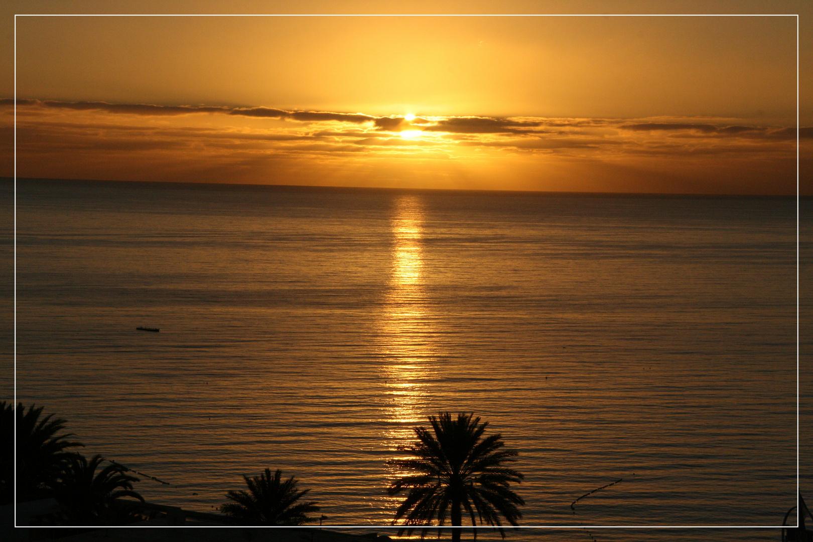 Sonnenaufgang 25.12.2010 auf Gran Canaria