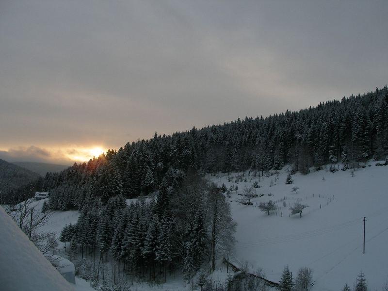 Sonnenaufgang 27.12.2005