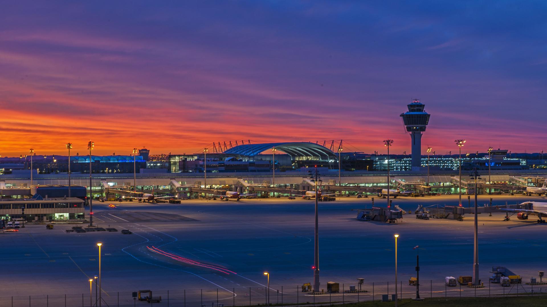 Sonnenaufgang Airport MUC - 2