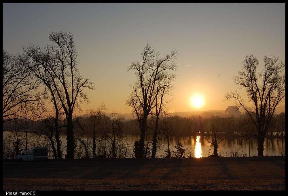 Sonnenaufgang / Altrhein Wyhlen