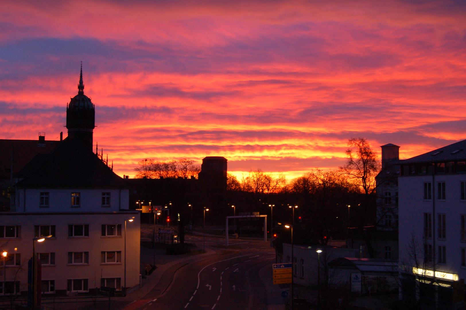 Sonnenaufgang am 1.1.2013 von meinem Balkon...