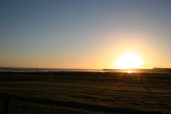 Sonnenaufgang am Amrumer Watt