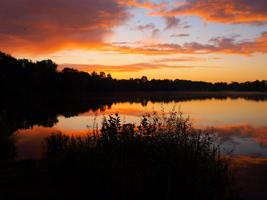 Sonnenaufgang am Angelsee