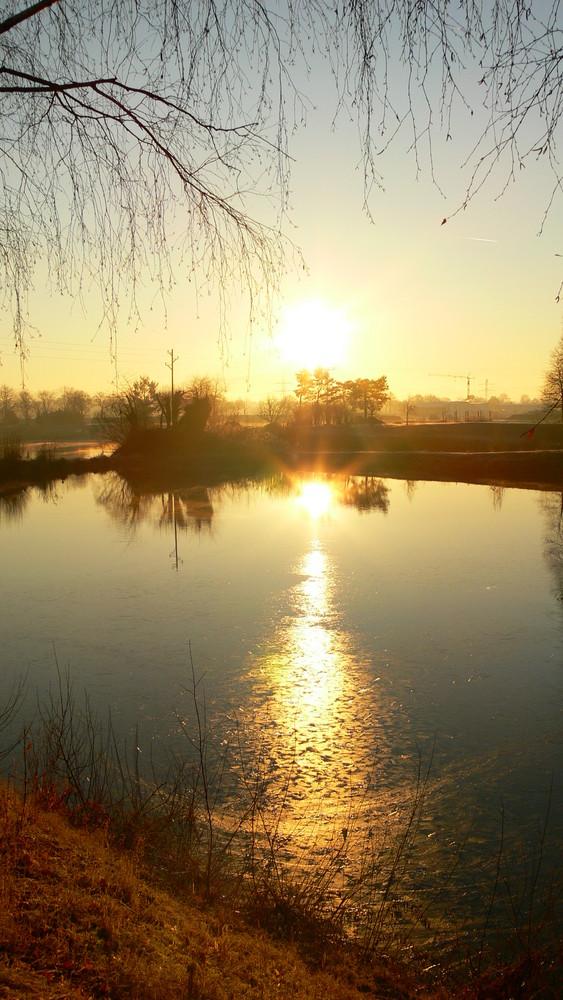 Sonnenaufgang am Anglersee