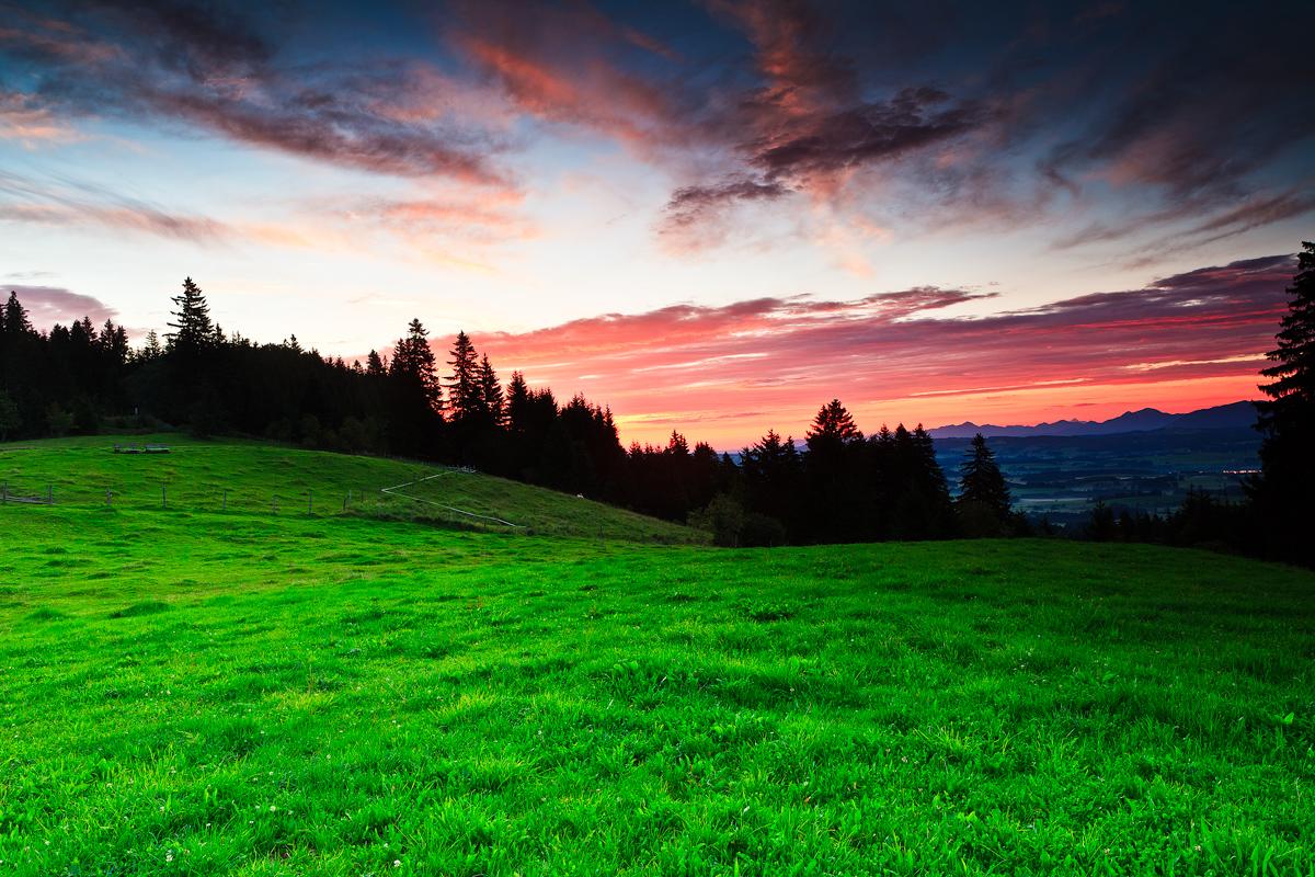 Sonnenaufgang am Auerberg