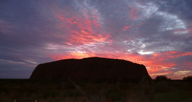 Sonnenaufgang am Ayers Rock