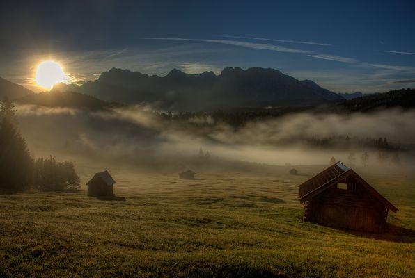 Sonnenaufgang am Geroldsee