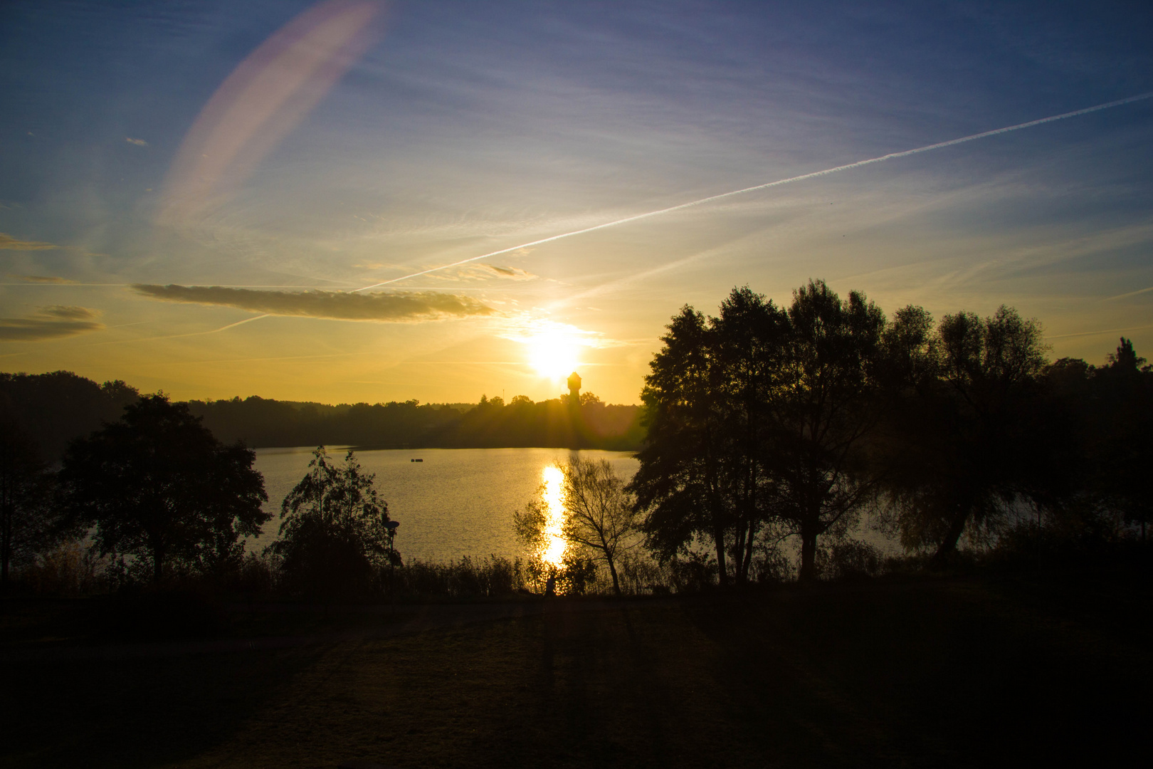 Sonnenaufgang am Glambecker See