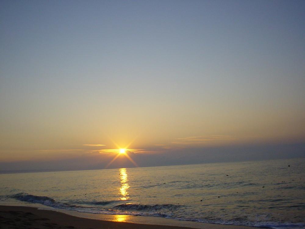 Sonnenaufgang am Goldstrand(Varna)