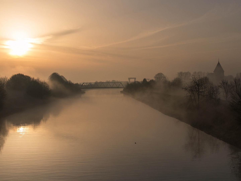 Sonnenaufgang am Hamm-Datteln Kanal