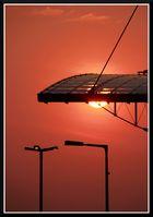 Sonnenaufgang am Hauptbahnhof