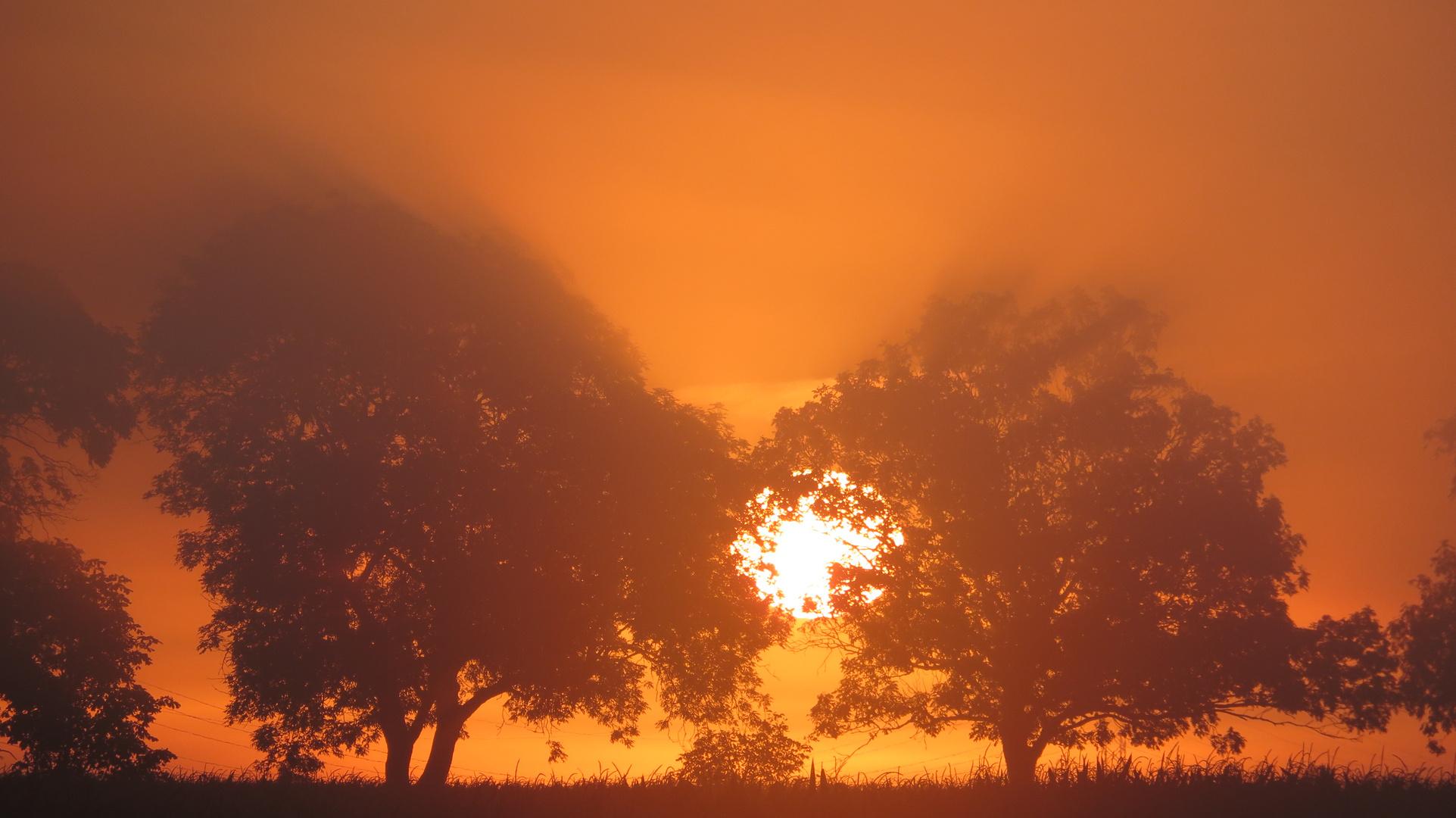 Sonnenaufgang am Herbstanfang