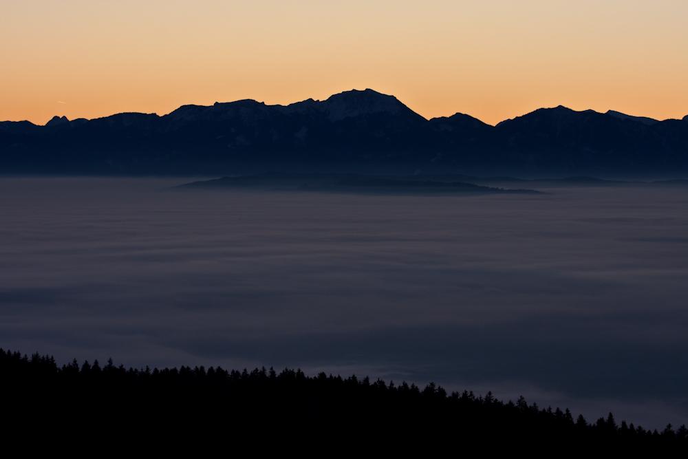 Sonnenaufgang am Hohen Peißenberg I