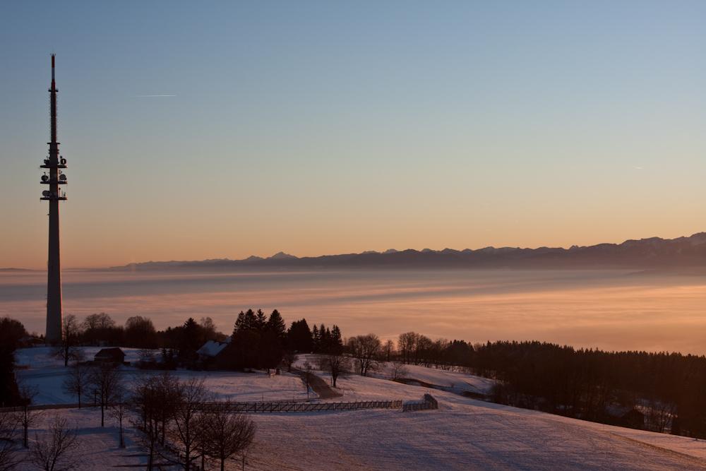 Sonnenaufgang am Hohen Peißenberg III