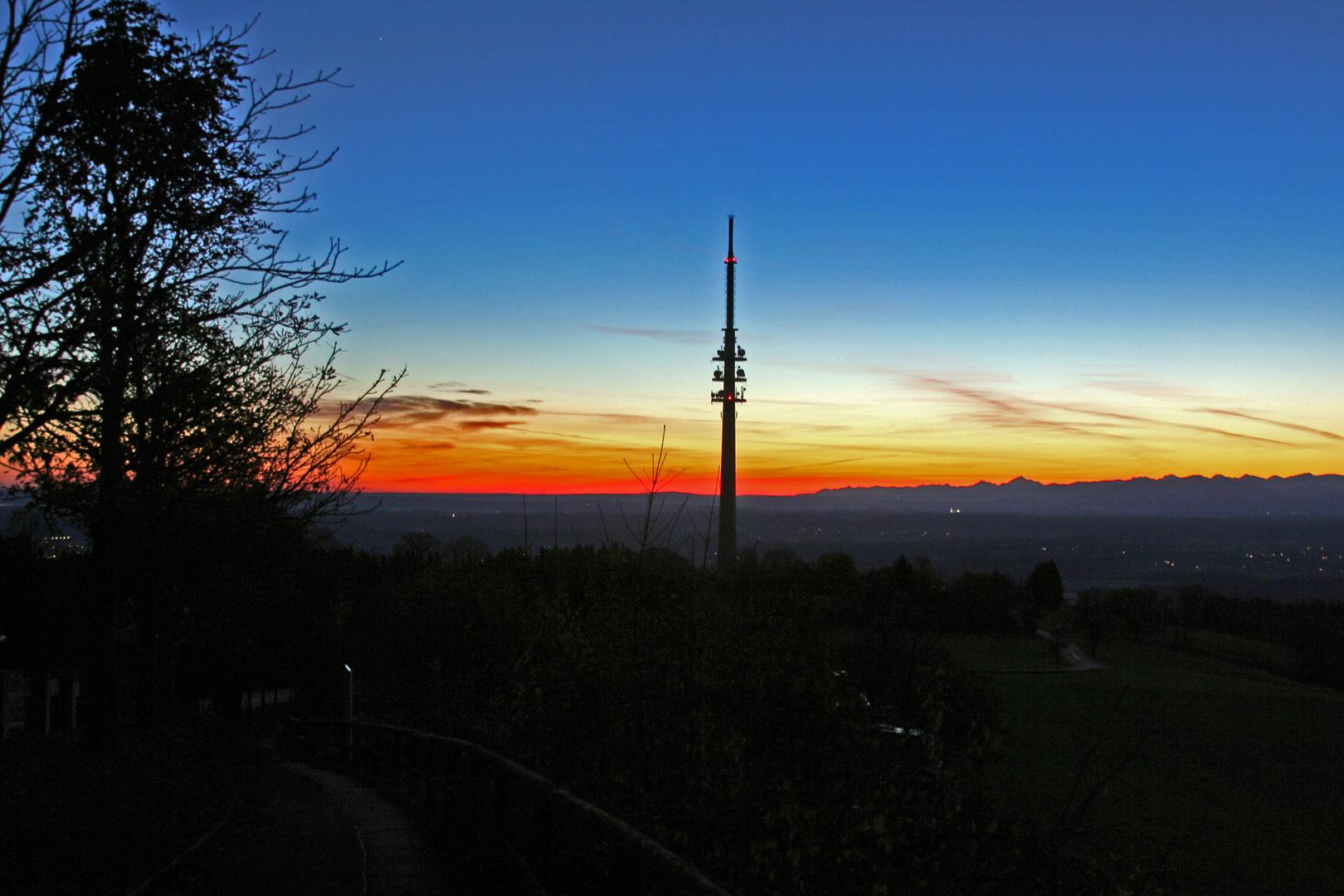 Sonnenaufgang am Hohenpeißenberg
