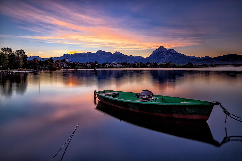 Sonnenaufgang am Hopfensee