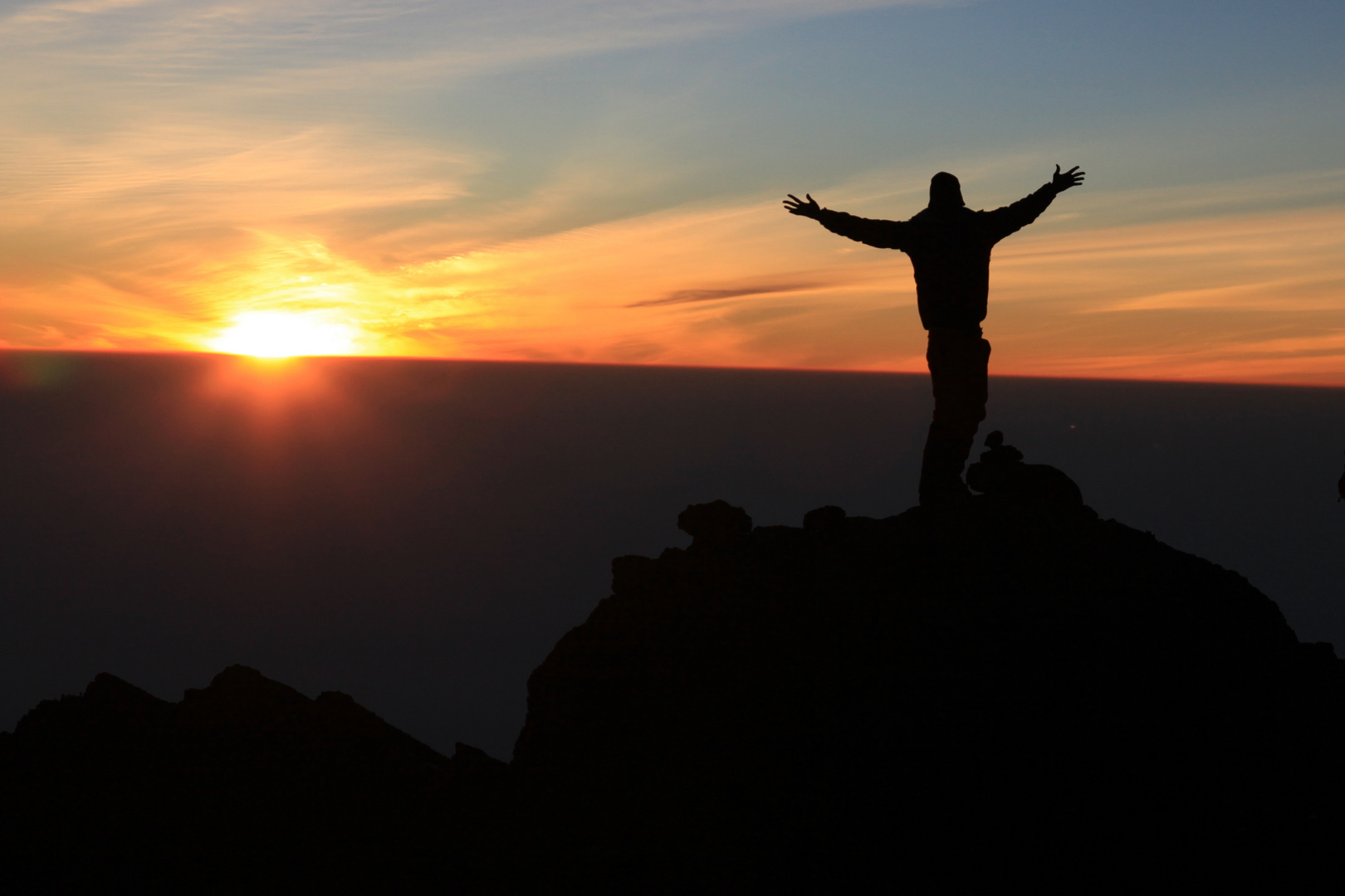 Sonnenaufgang am Kili