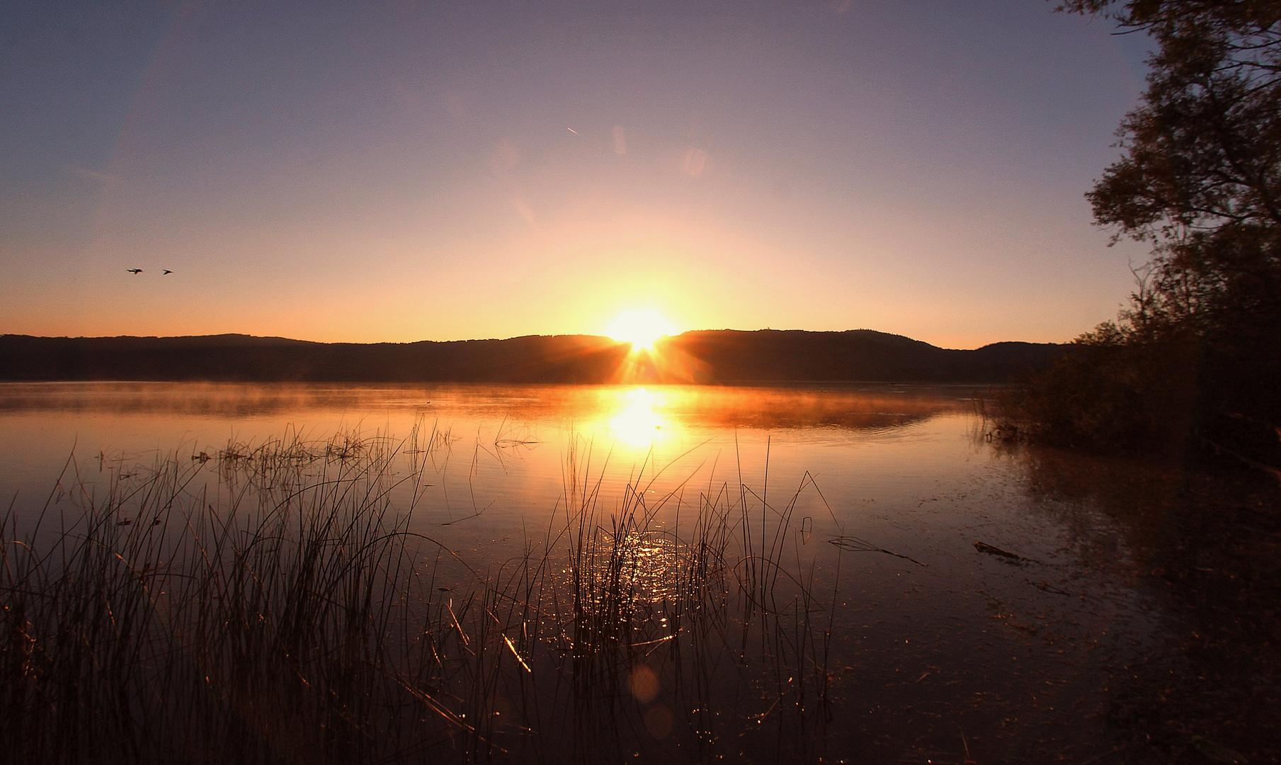 Sonnenaufgang am Laacher See No. 1
