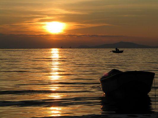 Sonnenaufgang am Lago Titicaca