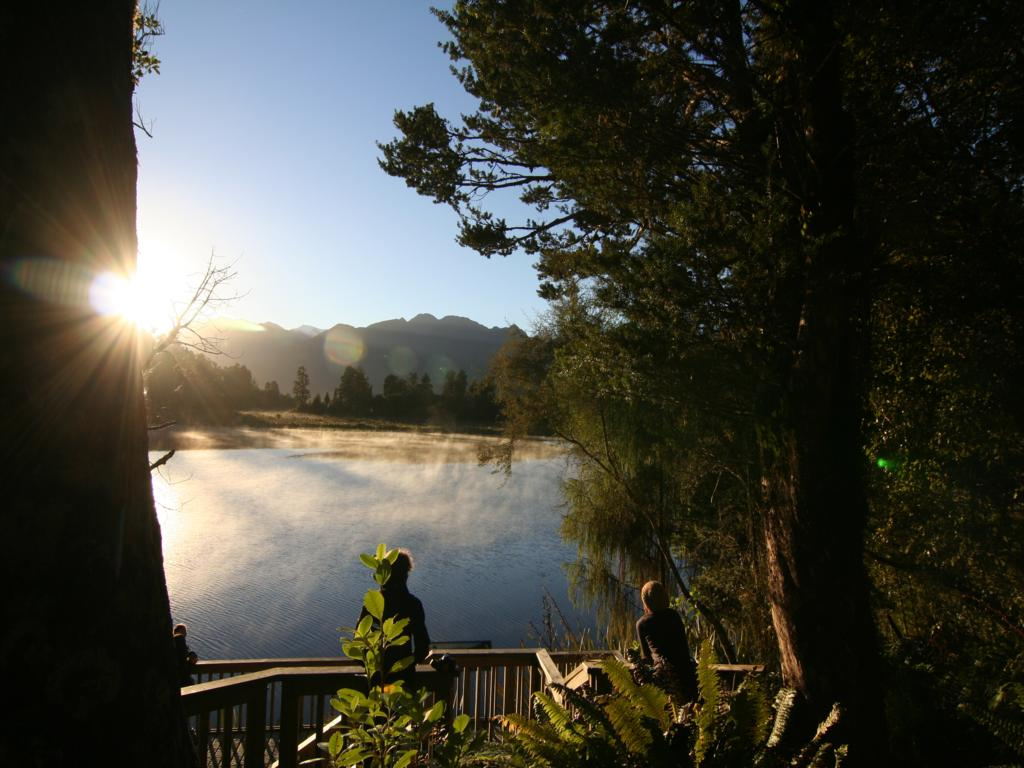 Sonnenaufgang am Lake Matheson (Neuseeland)