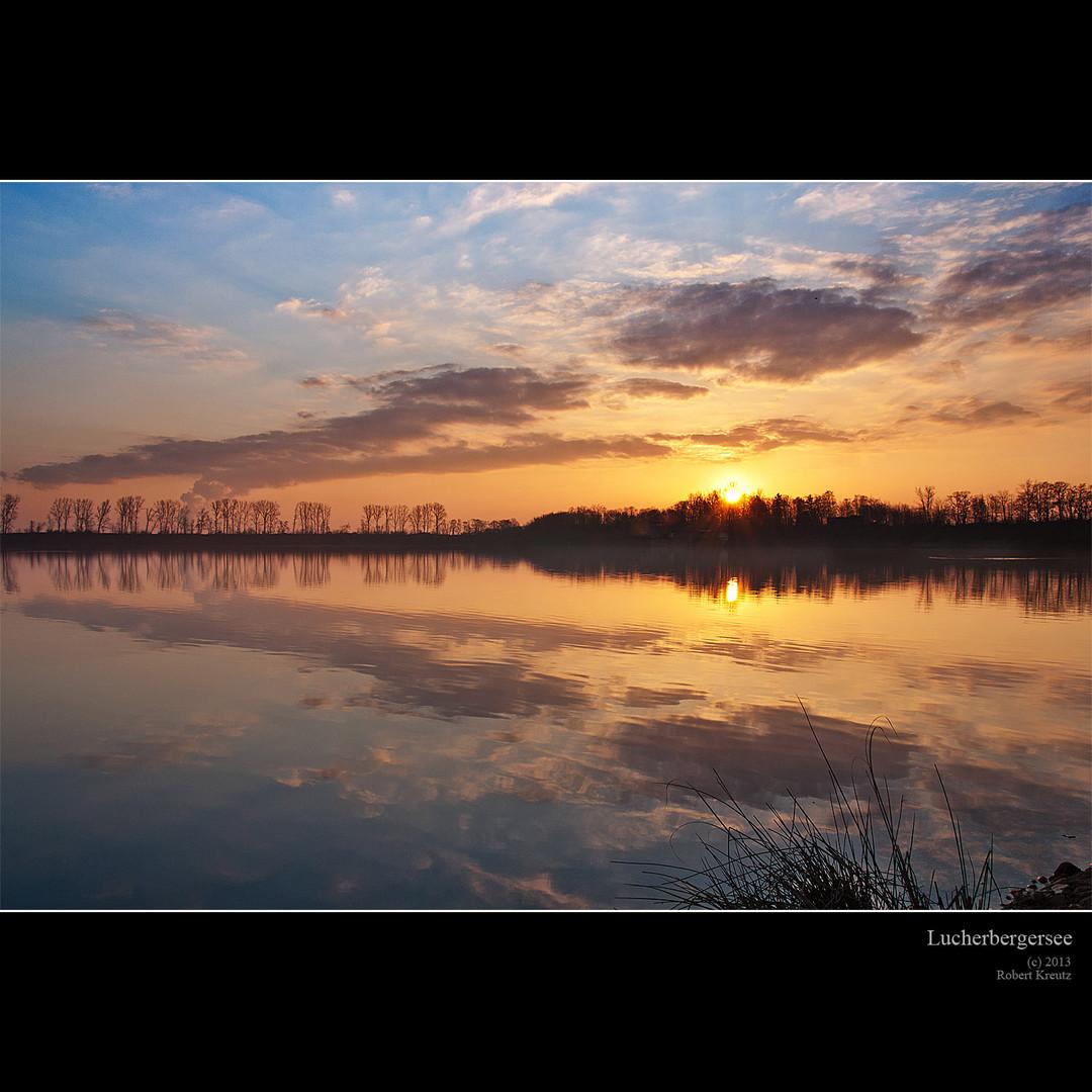 Sonnenaufgang am Lucherbergersee