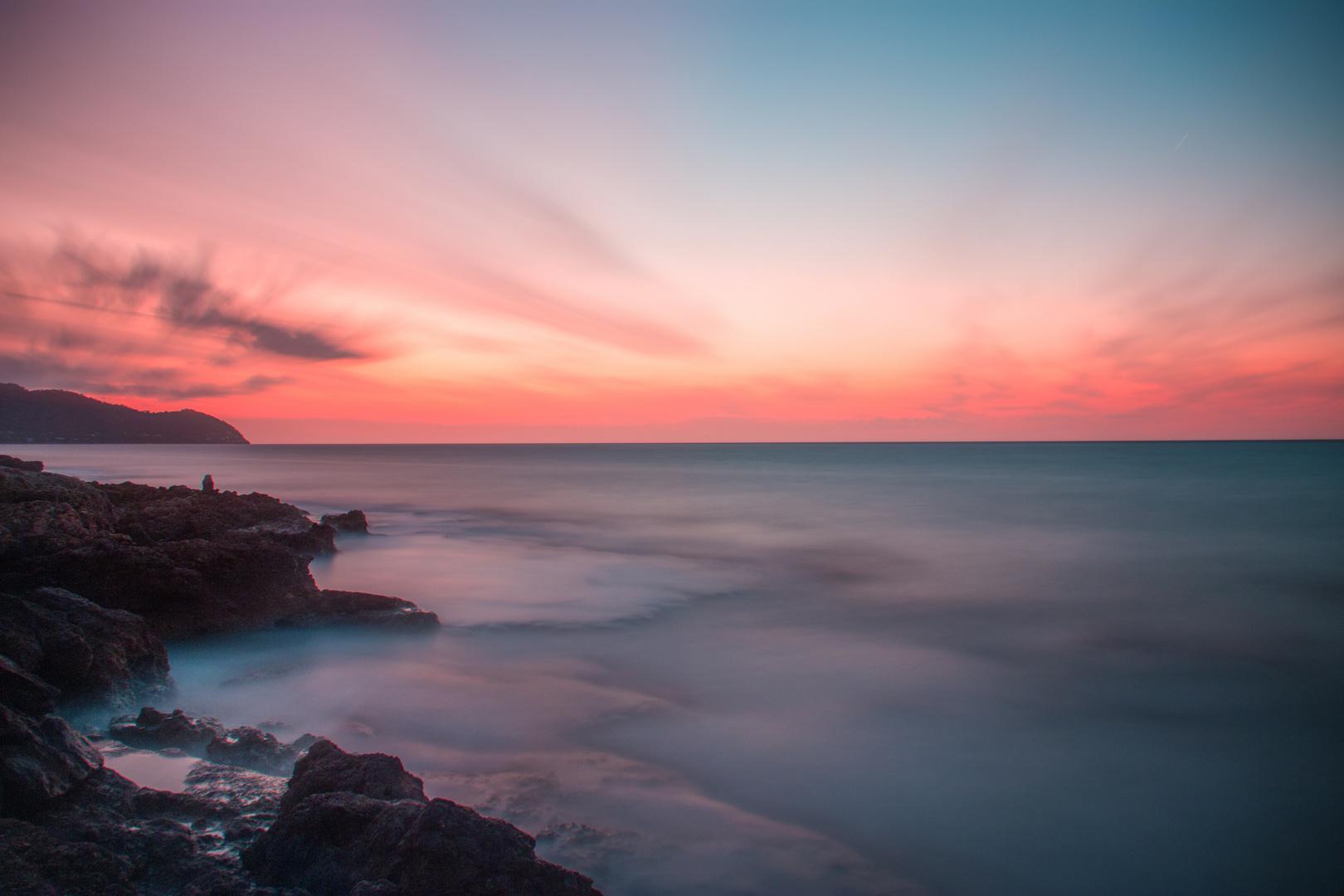 Sonnenaufgang am Mittelmeer Mallorca Cala Millor