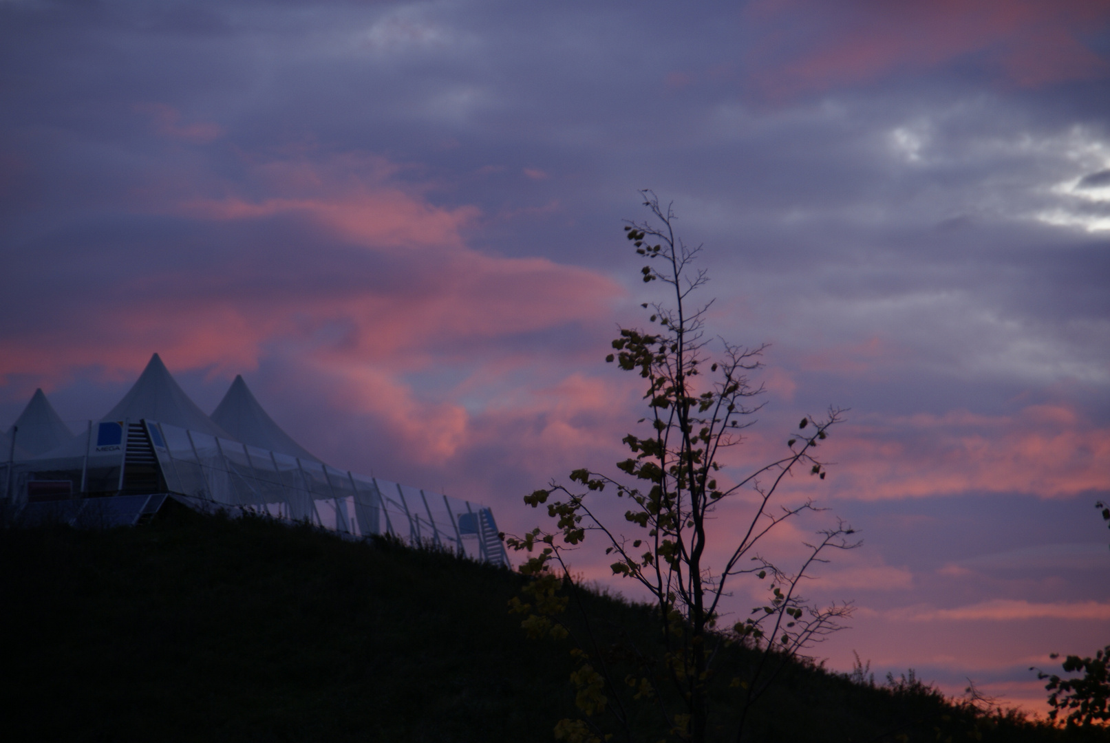 Sonnenaufgang am Monberg in Monheim am Rhein