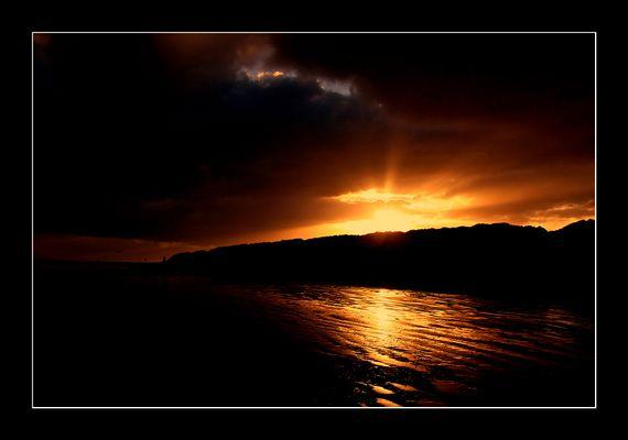 Sonnenaufgang am Nordstrand von Norderney