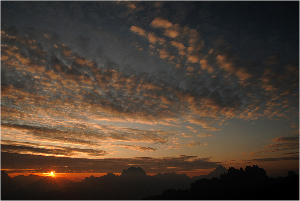 Sonnenaufgang am Nuvolau