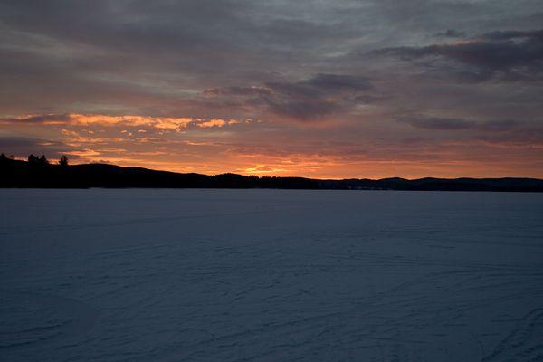 Sonnenaufgang am övre Brocken....