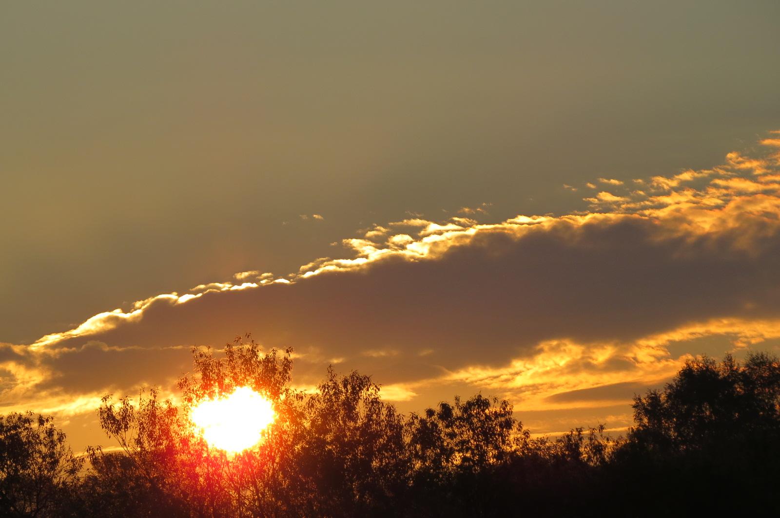 Sonnenaufgang am Ostermontag um 6:45 Uhr