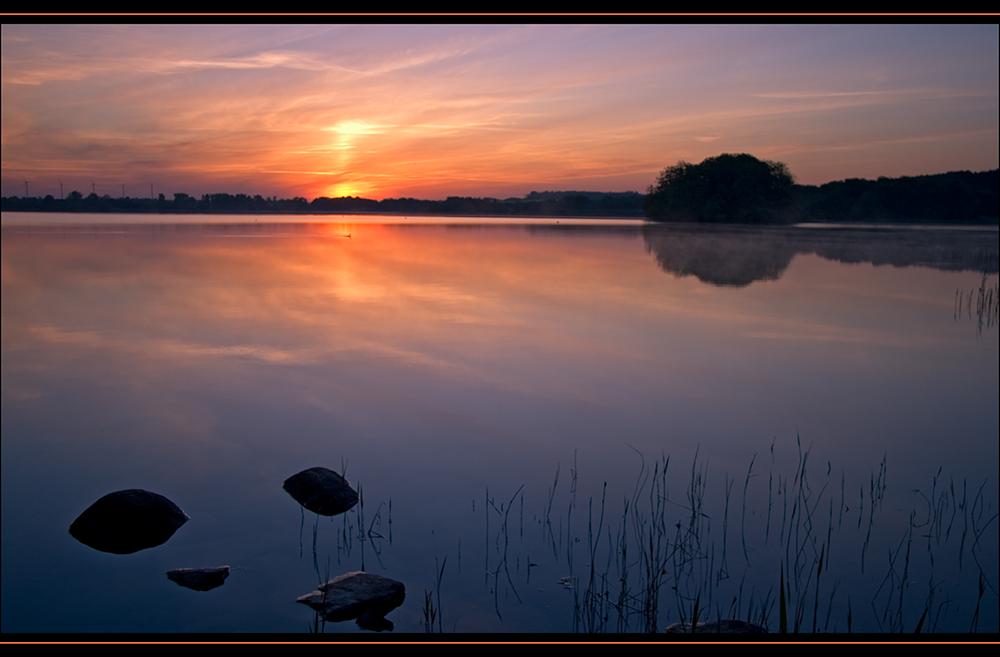 Sonnenaufgang am Parsteiner See